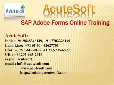 tutorial sap adobe forms sap adobe forms online training