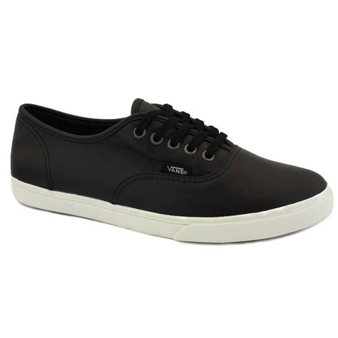 vans aged leather authentic lo pro qes75i womens leather