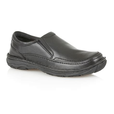 black slip on loafers lotus slip on casual loafers in black for lyst