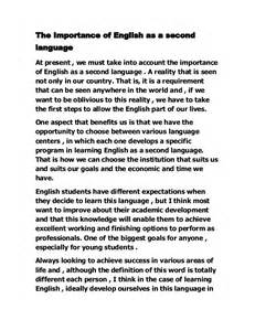 Importance Of Language Essay In by The Importance Of As A Second Language