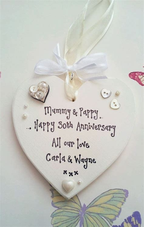 30th wedding Anniversary Pearl present Mum Dad Gift