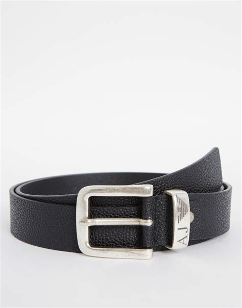 armani armani leather belt at asos