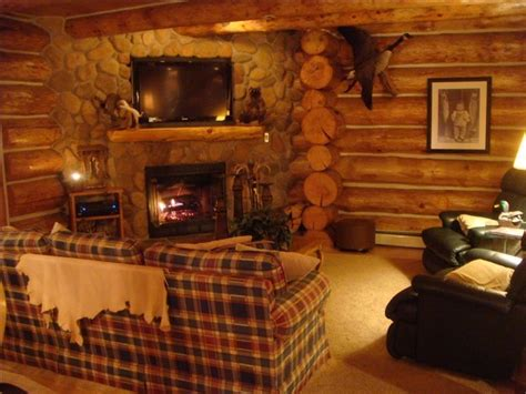 National Fireplace by Custom Log Cabin In The Of The Manistee Vrbo