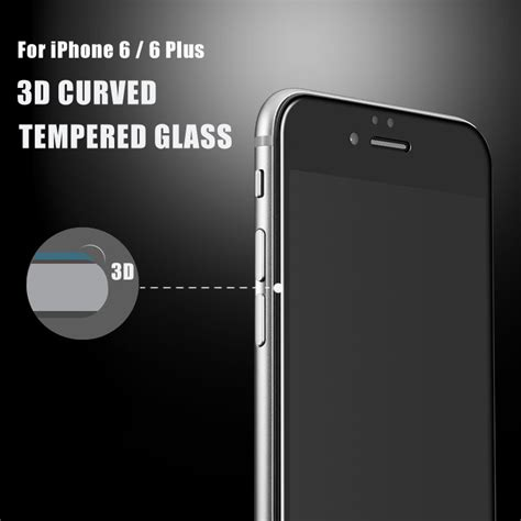 Iphone 6 Plus Tempered Glass Warna 3d Iphone 6 3d curved screen edge to edge tempered glass protector for iphone 6s 6 plus ebay