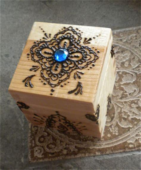 henna design jewelry box blue gem henna box by flowerwills on deviantart