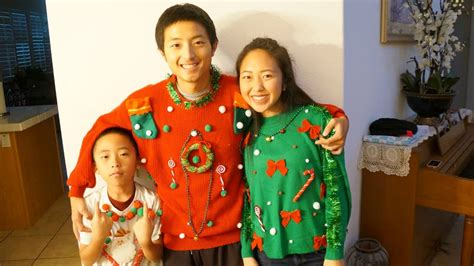 diy ugly christmas sweaters youtube