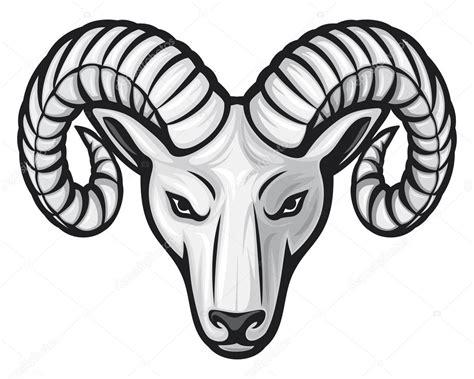 cartoon ram tattoo head of the ram stock vector 169 tribaliumivanka 12677753