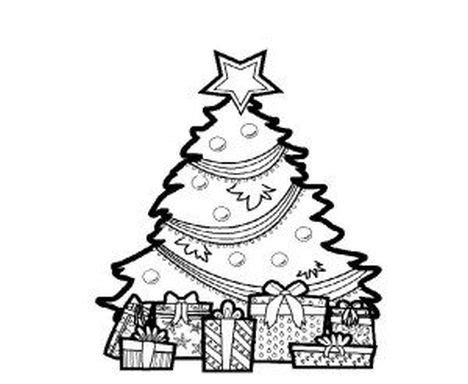 coloring page of christmas tree with presents christmas tree with presents coloring page part 2