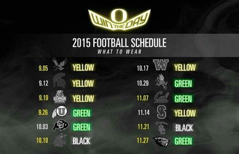 2015 oregon ducks color schedule yessss i so happy my ft