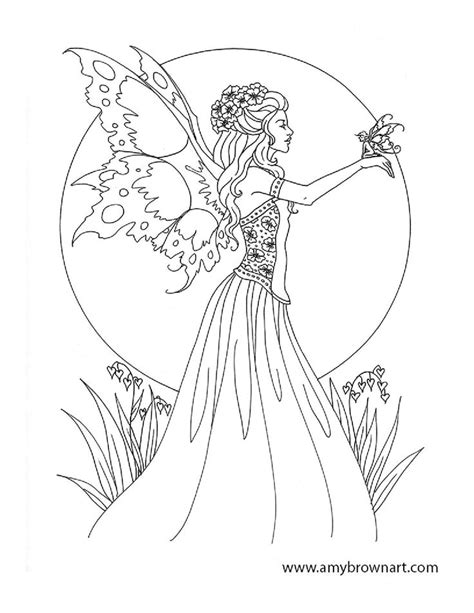 247 best coloring pages fairies images on