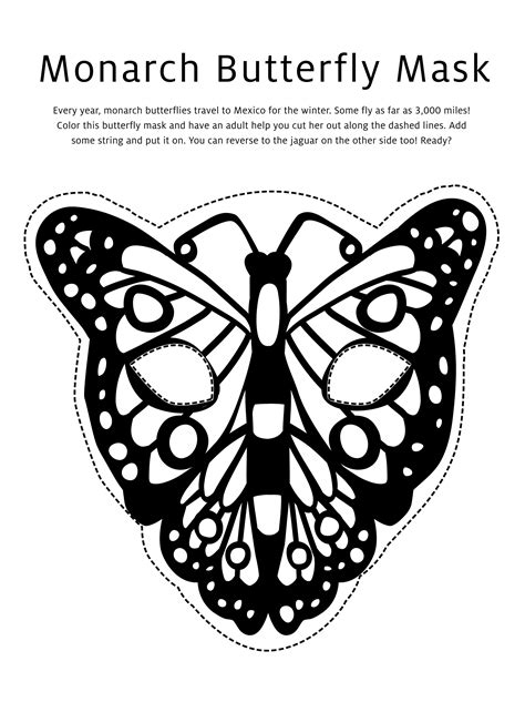 butterfly mask coloring pages jaguar butterfly masks activity download studio t blog