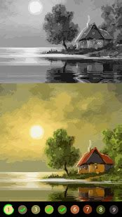 oil painting  color planet  art  number  android    software