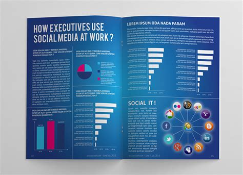 templates for magazine pages social media magazine template on behance