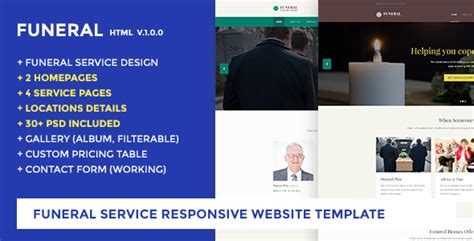 Funeral Service Website Template Funeral Caring Home Jogjafile Funeral Home Website Templates