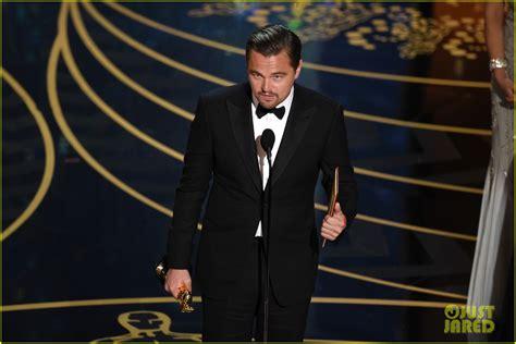 Oscars And Leo by Leonardo Dicaprio S Oscars 2016 Acceptance Speech