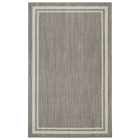 Grey Area Rugs Home Depot Border Loop Grey 4 Ft X 6 Ft Area Rug 513993 The Home Depot