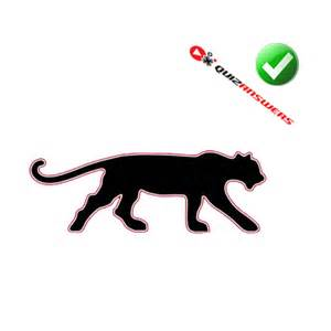 Logo Black Panther Outline by Image Gallery Orange Black Panthers Logo