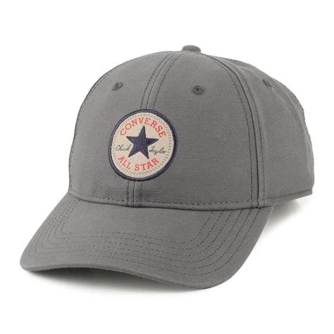 Baseball Cap converse tip baseball cap grey summer wear