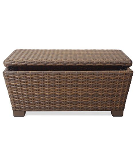 Wicker Coffee Table Storage Peconic Wicker Outdoor Storage Coffee Table Furniture Macy S