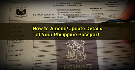 Updating Details on your Philippine Passport in Singapore ... Update Passport Picture