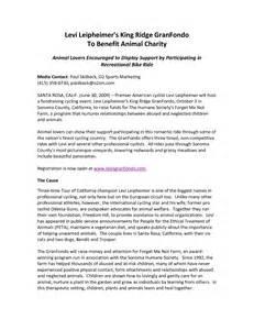 non profit press release template press release exle charity event
