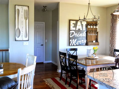 dining room walls lake girl paints making dining room wall art