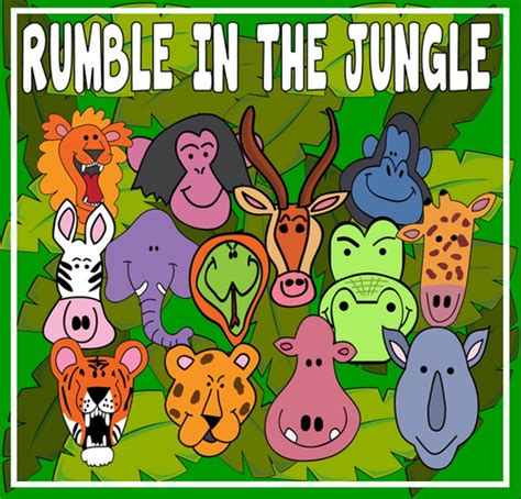 rumble in the jungle rumble in the jungle story teaching resources eyfs ks 1 2