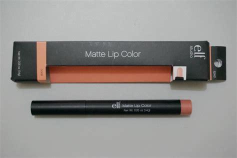 elf swatch studio matte lip color coral e l f studio matte lip color in coral review photos