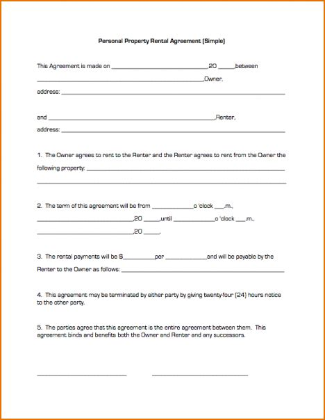 simple tenancy agreement template basic lease agreement template business