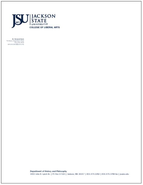 Official Apple Letterhead Jsu Department Letterhead Style Guide