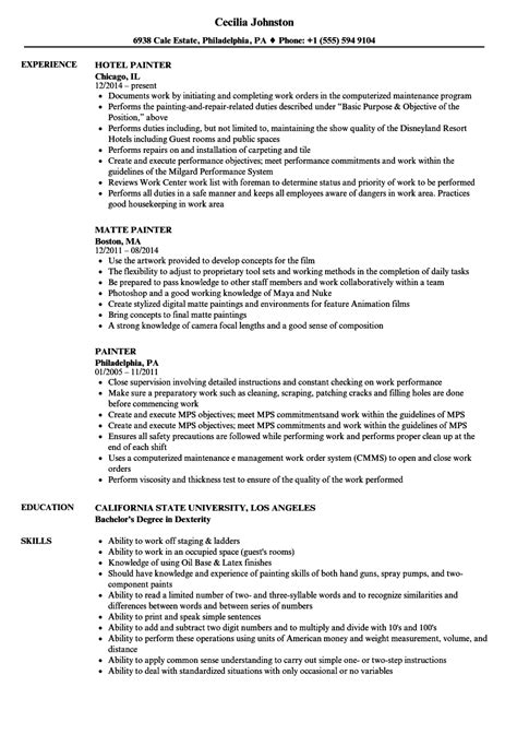 construction painter resume template best design tips