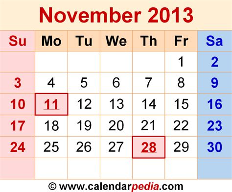 printable calendar october november december 2013 image gallery nov 2013 calendar