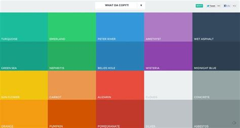 flat ui colors ux ui ia web design resource