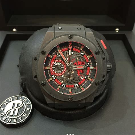 Jam Tangan Hublot King Power Black Matte jual beli tukar tambah service jam tangan mewah arloji original buy sell trade in service