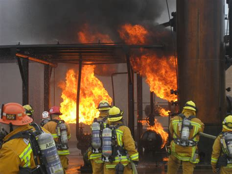 Fireplace Certification by Pasadena Arcadia Firefighters Take Part In Refinery