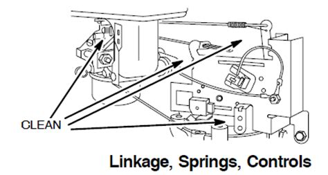briggs and stratton governor linkage diagrams briggs stratton 12hp i c for victor pro 12 ride