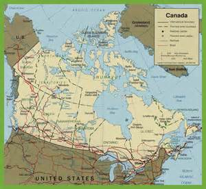 road maps of canada canada road map