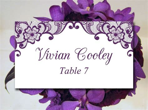 Wedding Reception Name Card Template by Lace Wedding Place Card Template Diy Card