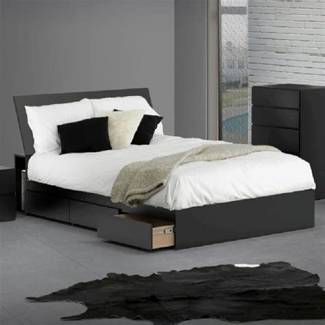 black storage headboard storage panel headboard in black 22xx06 hb