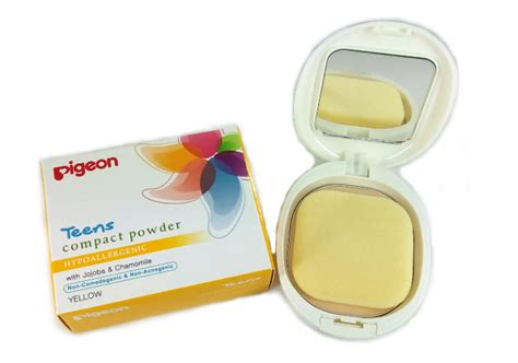 Bedak Pigeon review bedak padat pigeon compact powder yellow