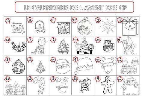 Calendrier De L Avent Anglais Cycle 2 Calendrier De L Avent Individuel 224 Colorier La Classe De