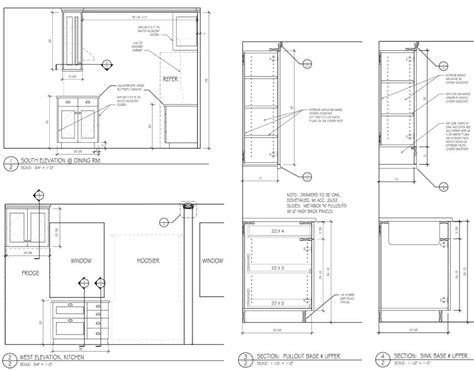 kitchen cabinets details cabinet sections drawing google search autocad