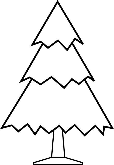 simple christmas tree free digital st clipart best