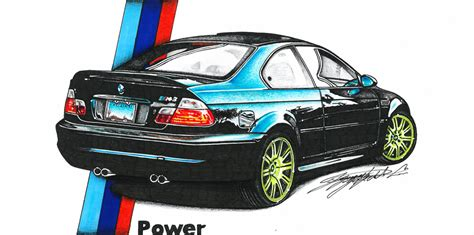 bmw car drawing bmw e46 car drawing by dusan djordjevic