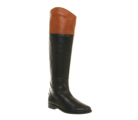 womens office all out boots black leather boots