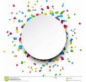 Confetti Celebration Background Stock Vector  Image