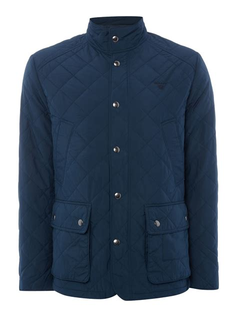 gant quilted jacket in blue for lyst