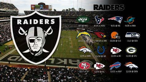 oakland raiders  schedule wallpaper wallpapersafari