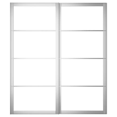 Sliding Door Frame by Pax Pair Of Sliding Door Frames W Rail Aluminium 200x236