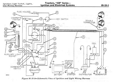 deere 420 tractor wiring diagram wiring diagram and